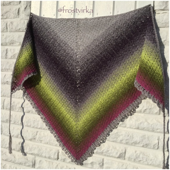 My big shawl made in Whirl 770.